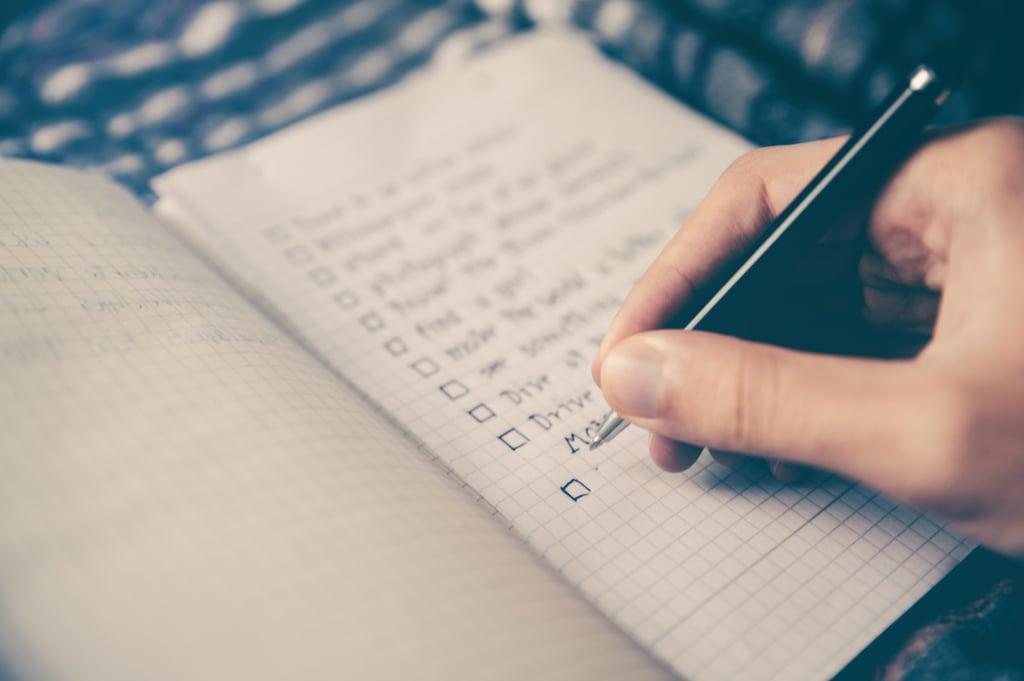 Write a bucket list.