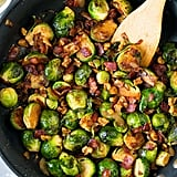 Sauteed Brussels Sprouts With Bacon, Onions, and Walnuts
