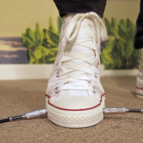 Converse Sneaker With Wah Guitar Pedal