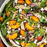 Peach Salad With Grilled Basil Chicken