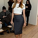 Naya Rivera showed off her abs at the Michael Kors show on Wednesday.