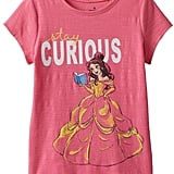 "Jumping Beans Disney Beauty & The Beast Belle Girls ""Stay Curious"" Slubbed Tee ($9, originally $16)"