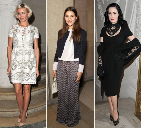 Cameron Diaz, Anna Dello Russo, Dita Von Teese and Margherita Missoni Sit Front Row at 2012 Paris Couture Fashion Week