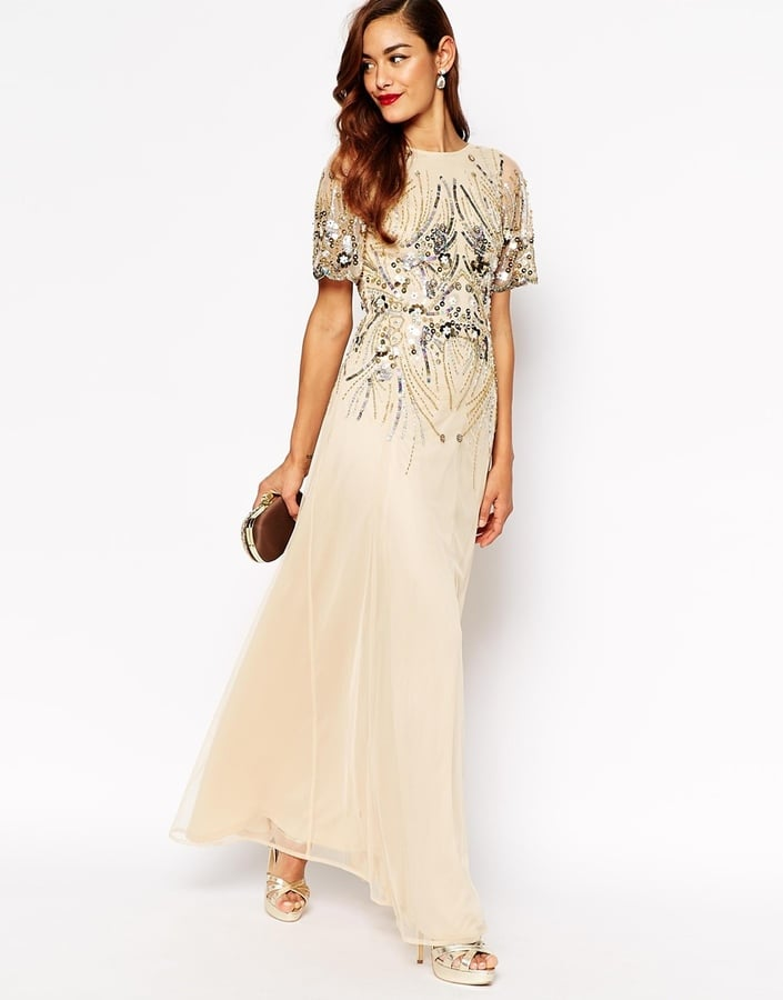 ASOS Collection Red Carpet Sparkle Embellished Mesh Maxi Dress (£150 ...