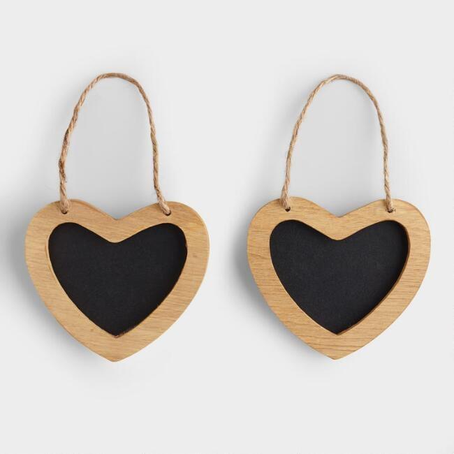 Mini Heart Chalkboards