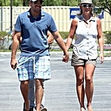 Britney Spears hung out with her boyfriend David Lucado in LA on Sunday.
