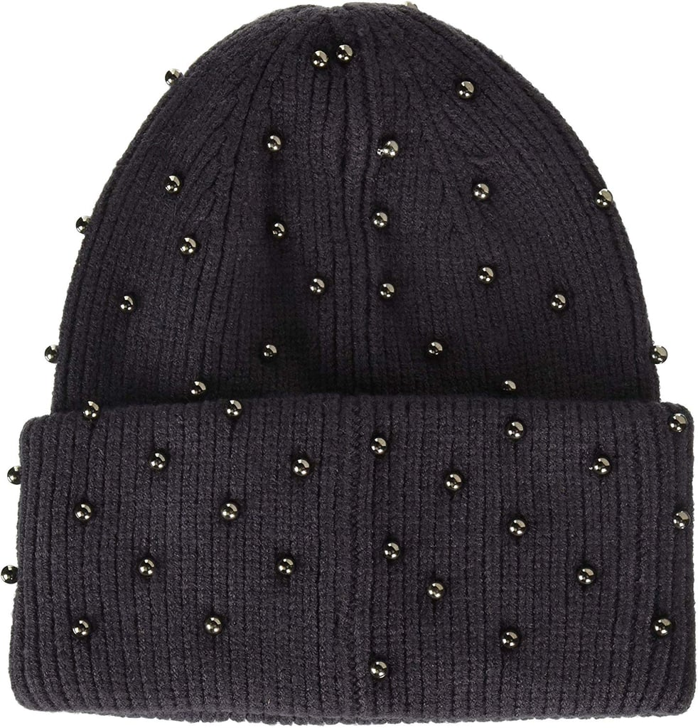 Steve Madden Metallic Pearls Hat