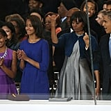 The first family enjoyed the inaugural parade.
