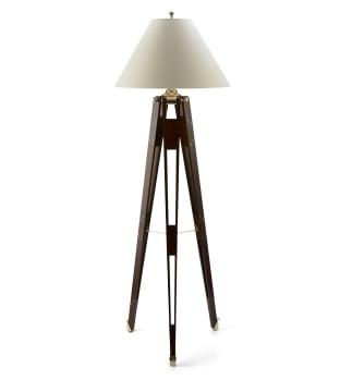 Desire/Acquire: Wooden Tripod Floor Lamp