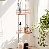Urban Outfitters Minimal Rose Gold Standing Bathroom Storage ($39) is a standing product holder that can go in your bathroom or bedroom.