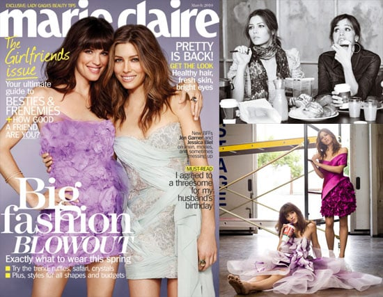 Photos of Jennifer Garner and Jessica Biel on Marie Claire for Valentine's Day