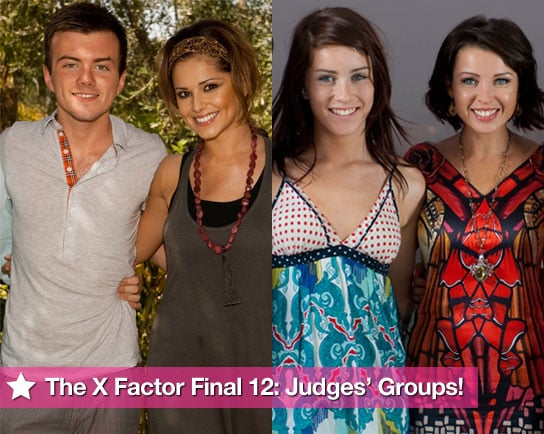 The X Factor 2009 Final 12, X Factor Contestants Going Through to Live Finals, Judges' Final Three On X Factor,