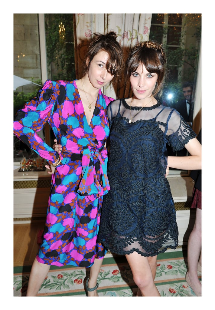 Camille Bidault Waddington and Alexa Chung