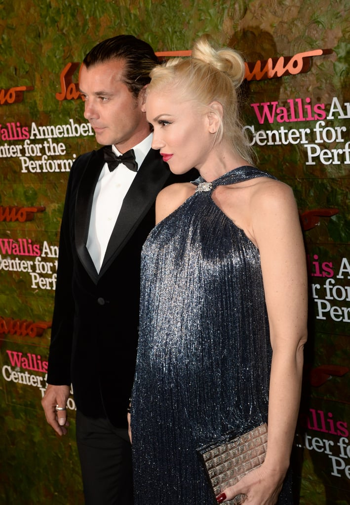Gwen Stefani showed off her baby bump in a gorgeous gown with her husband, Gavin Rossdale.