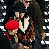 Fashion forward pair Katy Perry and John Mayer made their way through the crowds on inauguration morning.