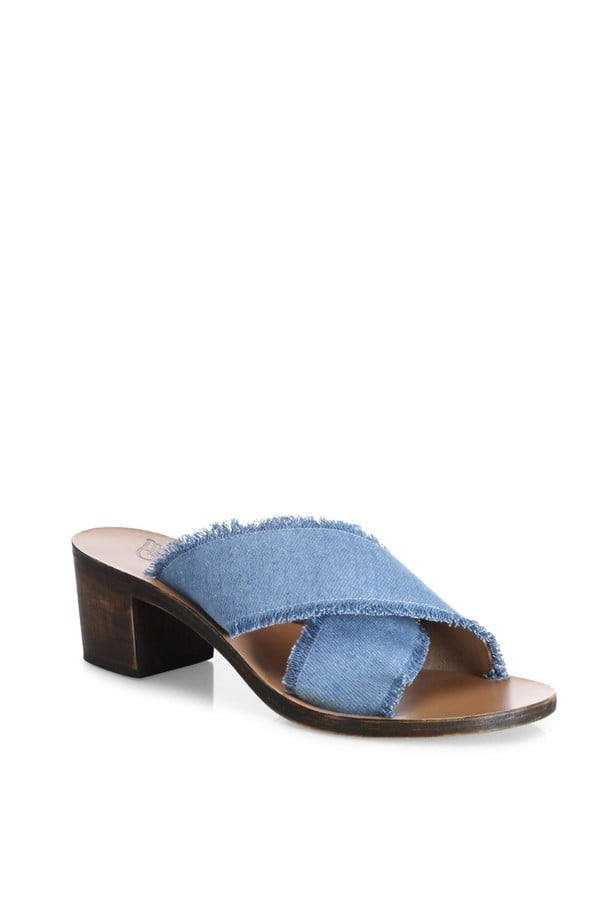 Thais Denim Cross-Strap Sandals Ancient Greek Sandals XqIs2Gzefs