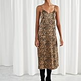 & Other Stories Satin Leopard Slip Dress
