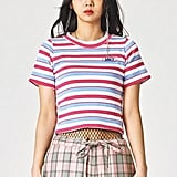 W Concept Candy Stripe T-Shirt