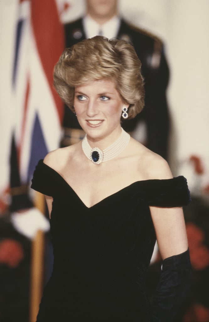 Princess Diana Wearing the Victor Edelstein Dress at the White House in 1985