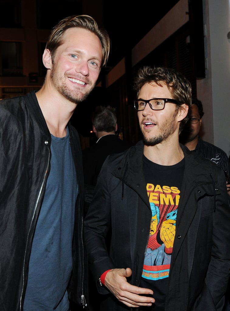 Ryan Kwanten and Alexander Skarsgard chatted at Comic-Con.