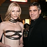 Cate Blanchett and George Clooney posed for a pic while celebrating the LA premiere of The Good German in December 2006.