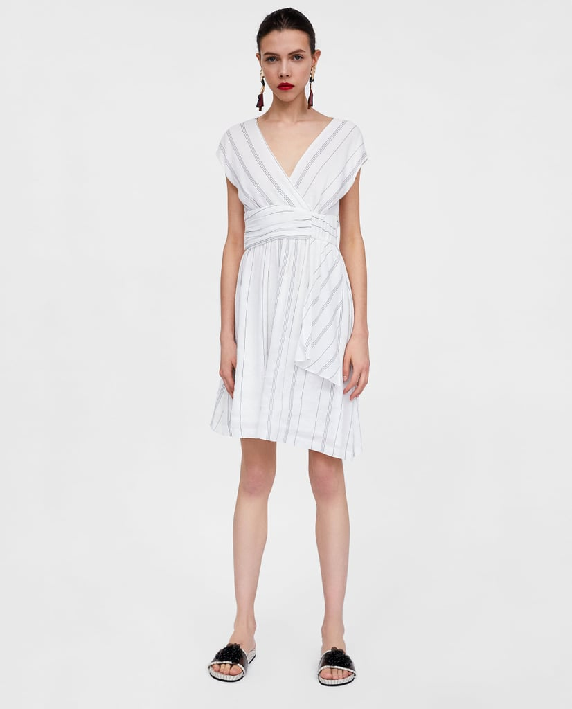 Zara gathered striped dress katy perry white striped dress in zara gathered striped dress mightylinksfo