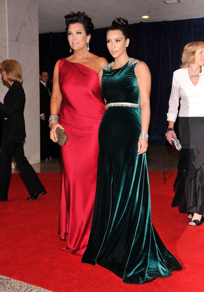 Kim Kardashian and Kris Jenner posed together on the red carpet.