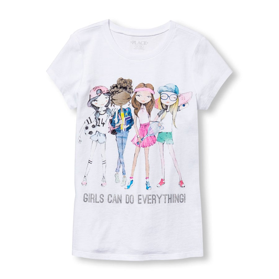 Girls can do anything squad graphic tee children 39 s for Graphic t shirts for kids