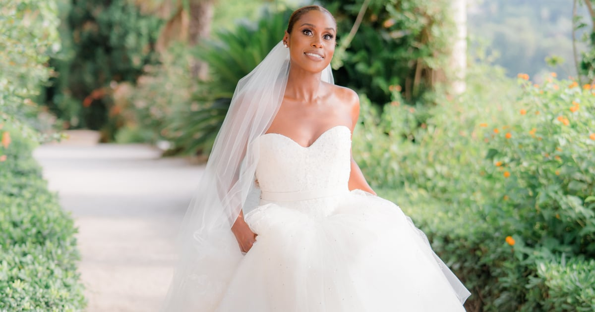 Issa Rae Shows Us the Beauty of 2 Classic Necklines in Her Vera Wang Haute Wedding Gowns
