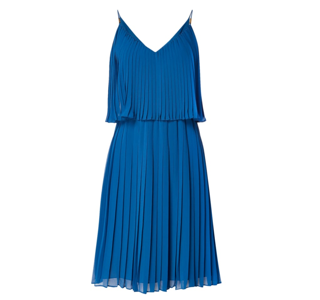 Biba Pleated Layered Knee Length Dress