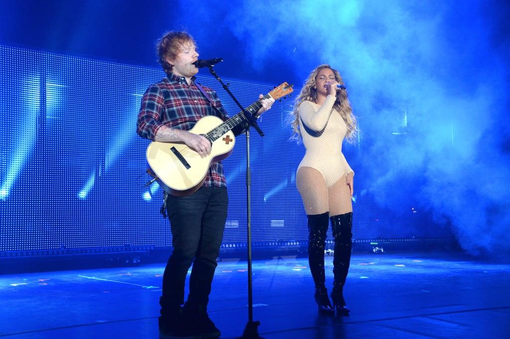 Beyoncé and Ed Sheeran