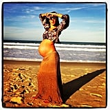 Alessandra Ambrosio shared one of her last pregnancy photos before giving birth to her son, Noah.  Source: Instagram User alecambrosio