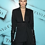 Kendall Jenner at the Tiffany & Co. Exhibition During NYFW