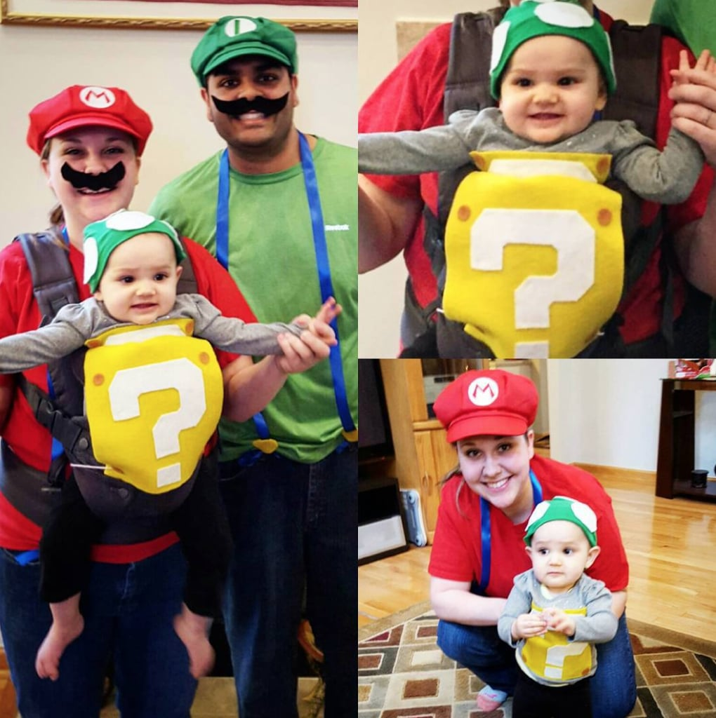 Halloween Costumes For Family Of 3 With A Baby.1up Box Mario And Luigi Family Of 3 Halloween Costumes