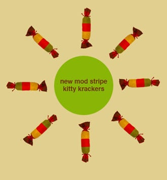 New Product Alert! George Mod Stripe Kitty Krackers