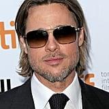 Brad Pitt wore sunglasses at night in Toronto.
