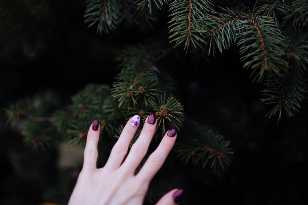 Use Tape to Create Holiday Nail Art