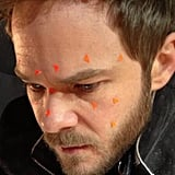 Shawn Ashmore, who plays Iceman, showed off the tracking on his face. Source: Twitter user BryanSinger