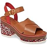 Tory Burch Miranda Espadrille Block Heel Platform Sandals