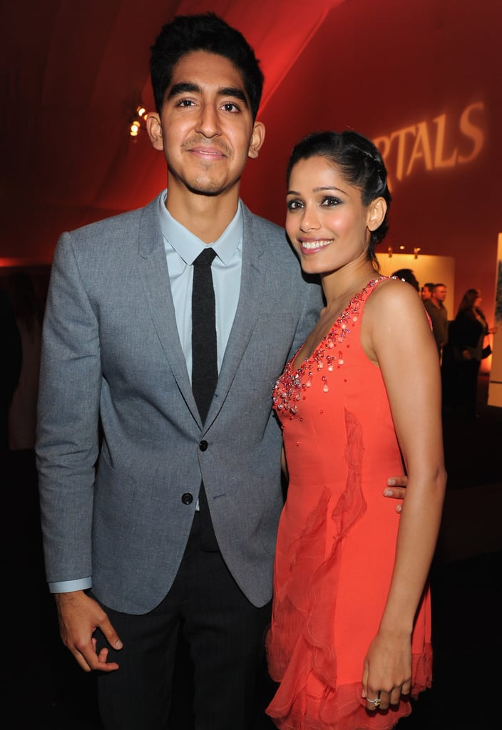 Freida Pinto and Dev Patel were lucky in love at the Immortals premiere.