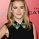 We're loving Kiernan Shipka's half-up hairstyle from the Hunger Games red carpet in LA.