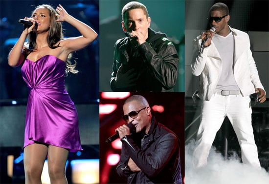 Pictures of Alicia Keys, Usher, Eminem, Drake, and Kayne West at the BET Awards