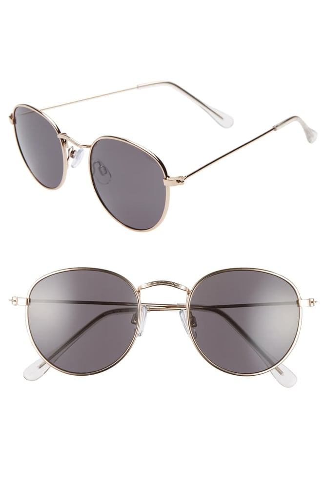 BP. 48mm Round Metal Sunglasses