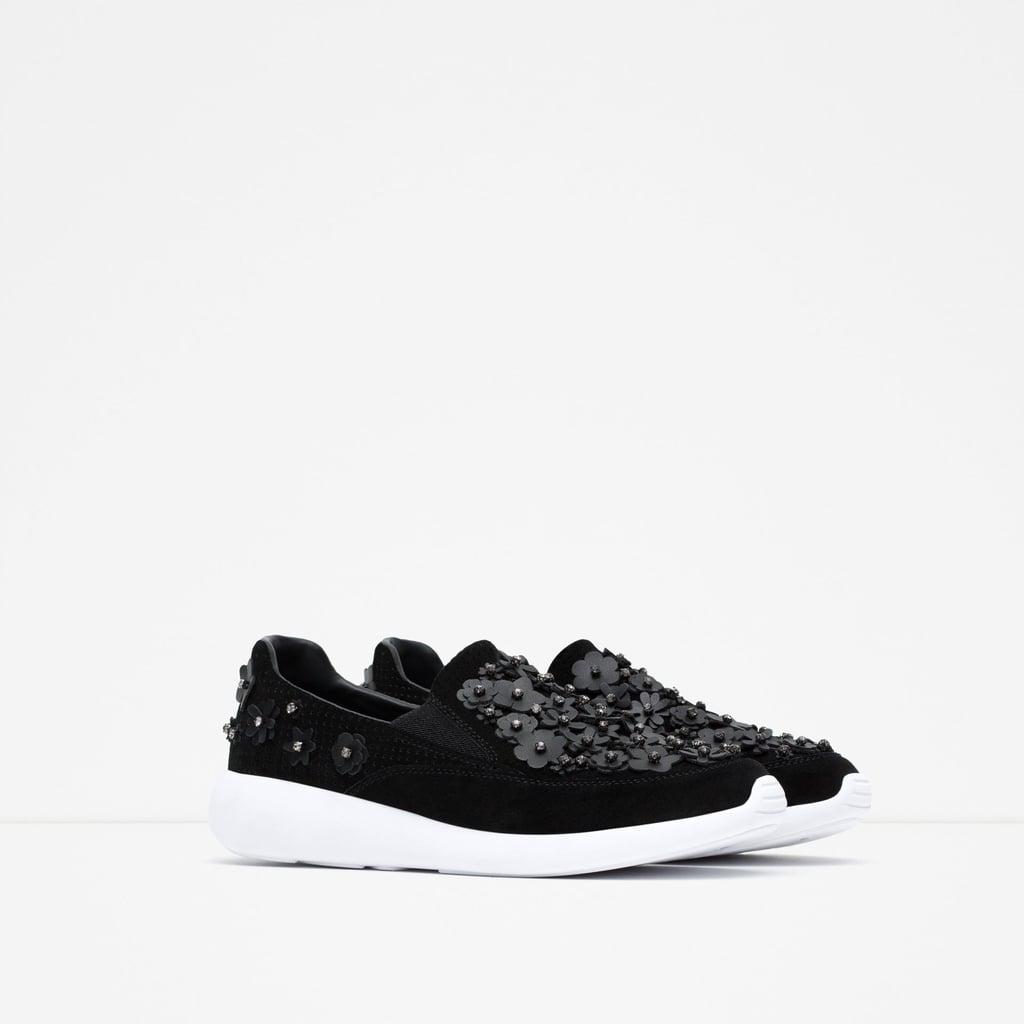 Zara Floral Sneakers ($90)