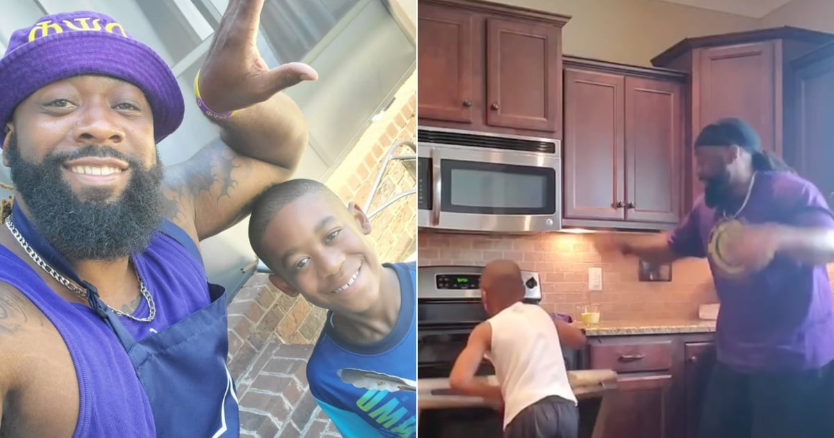 Please Watch This Dad Dance His Way Through Making Breakfast With His 7-Year-Old Son