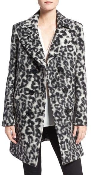 Rebecca Minkoff Luke Leopard Print Wool Blend Coat ($448)