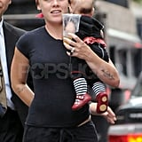 Pink takes baby Willow out in NYC.