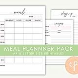 Meal Planner Printable Pack ($6)