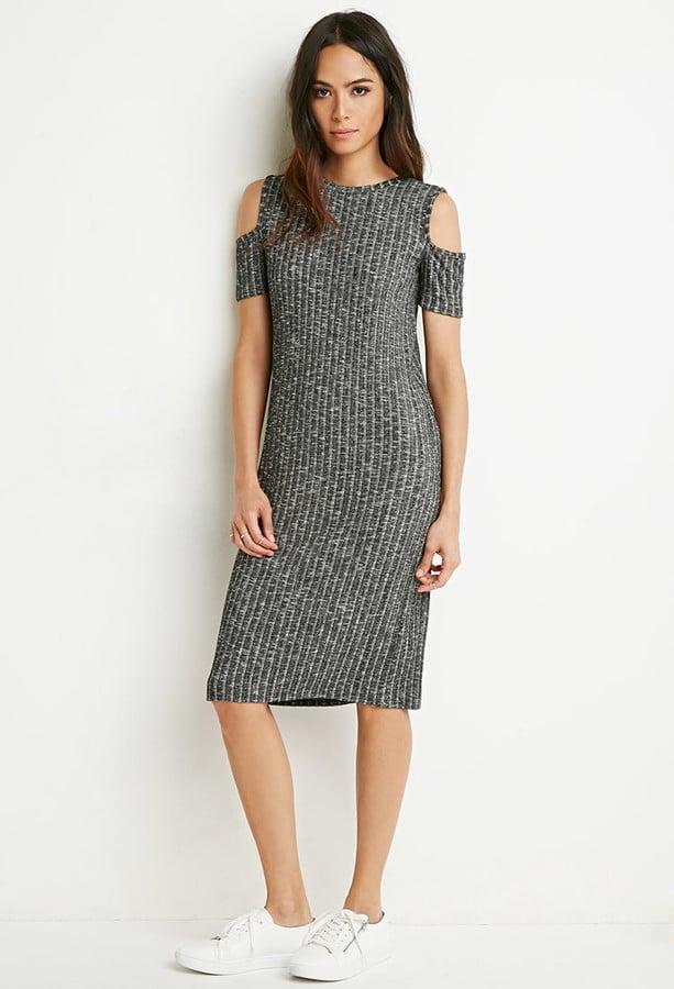 Forever 21 Marled Open-Shoulder Ribbed Dress ($16)