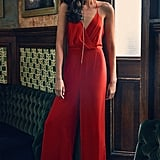 Urban Outfitters Halter Surplice Jumpsuit